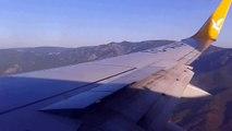 Anflug auf Edremit / Balıkesir Edremit Koca Seyit havalimanı Pegasus Airlines approach
