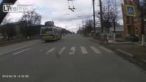 Hit and Run crash in Russia - 1 Dead...