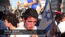 Israel vs Gaza Aid Flotilla PROTEST- violent fighting Rally Los Angeles