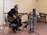 M2U02015 duo guitare classique et electrique, Blues avec improvisations, fête de la musique à Scy Chazelles le 21 06 201