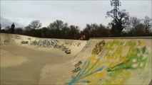 Traxxas Slayer Pro 4x4 nitro. BMX / Skate park bash