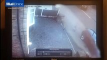 CCTV footage shows moment four year-old vandal keys car