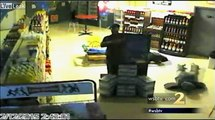 Thieves Rob Gas Station while Snaking Around the Floor