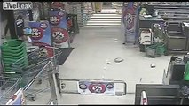 Clumsy Idiot Wears Elects to Wear Socks and Thongs (Flip Flops) During Robbery - Poor Choice