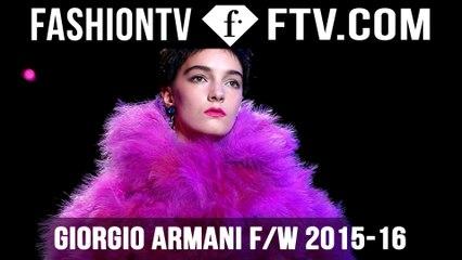 Giorgio Armani Haute Couture FallWinter 2015 16 | FTV.com