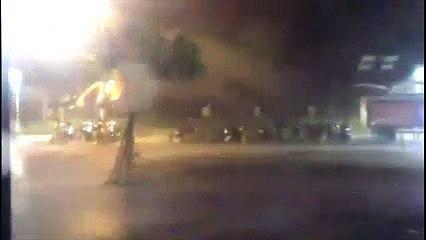 Powerful typhoon hitting a street in Taiwan - Raw Video