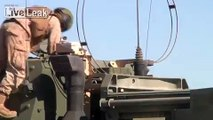 US Marines Firing the Extremely Powerfull Multiple Rocket Launcher 142 HIMARS