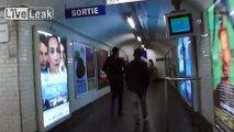 Gypsy criminals working in pairs on the Paris metro targeting tourists headed to the airport