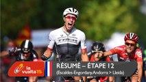 Résumé - Étape 12 (Escaldes-Engordany. Andorra / Lleida) - La Vuelta a España 2015