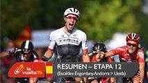 Resumen - Etapa 12 (Escaldes-Engordany. Andorra / Lleida) - La Vuelta a España 2015