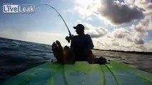 Crazy Kayak Shark Fishing Guy