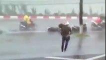 The Terrible rainstorm you never have seen in Ha Noi, Viet Nam