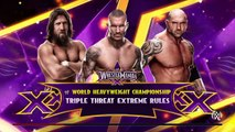 WWE 2K RIVALRIES - Daniel Bryan vs. Randy Orton vs. Batista | WWE Wrestlemania 30 | WWE 2K15 Gameplay