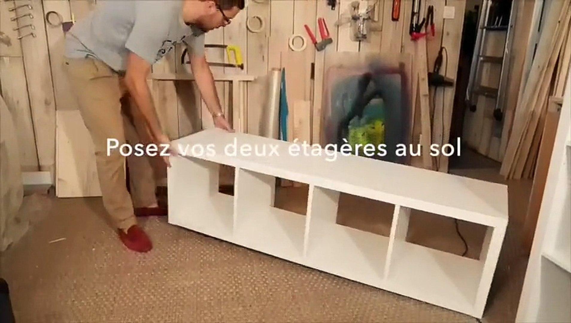 Fabriquer Un Lit En Bois diy : fabriquer un lit avec des étagères ikea