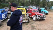 Aces of Spades, Vintage Stock Car racing at Daylesford Speedway.