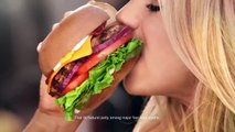 Hardee's Commercial 2015 Charlotte McKinney The All-Natural Burger
