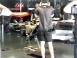 McLaren Mercedes F1 car engine testing
