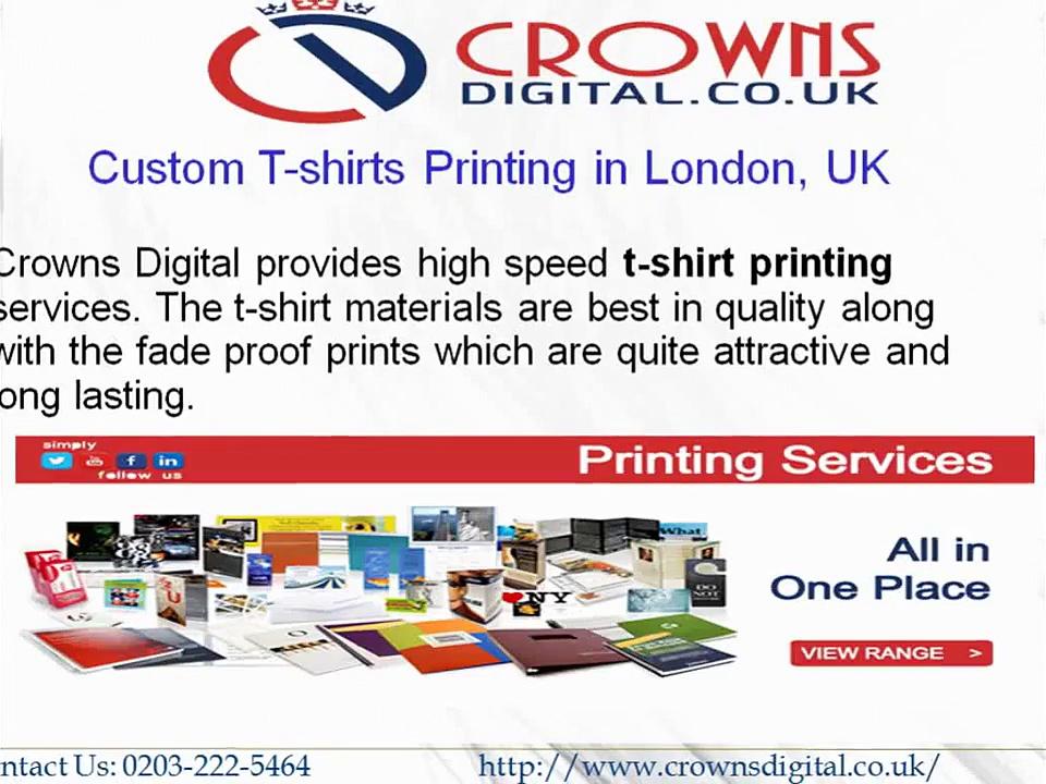 Custom T-shirts Printing in London, UK