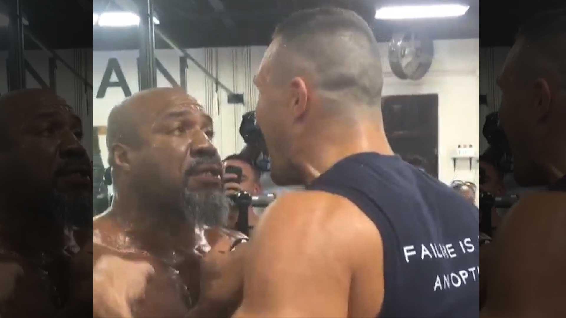 Shannon Briggs Vs  Klitschko | Evander Holyfield Breaks Up Gym Fight