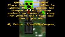 FREE MINECRAFT ACCOUNT LIST   MINECRAFT ALT LIST   02.09.2015