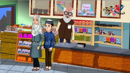 NEW Abdul Bari & Happy Shopkeeper on Honesty Islamic Muslims cartoon for kids