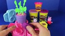 Peppa Pig Makes Play Doh Flowers with Zoe Zebra Play Dough Rose Gardening Together DisneyCarToys