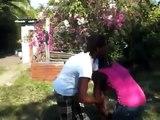Blood clot! Jamaican couple having an argument.