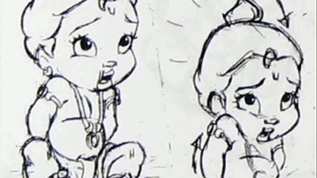 Cartoon Baby Krishna Drawing