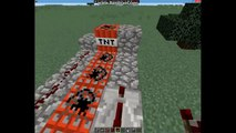 Minecraft How to - TNT Launcher!