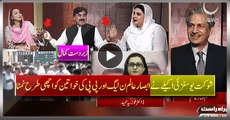 Shaukat Yousafzai Alone Handing Absar Alam, Ladies Of PMLN and PPP - Great Perfection