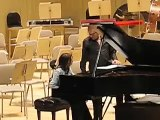 Yuja Wang rehearsing at Boston Symphony Hall
