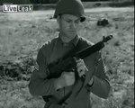 WWII U.S. training film -  Schmeisser vs. Thompson vs. Grease Gun -- WW2 Submachine Gun Shootoff