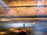 Top Gear Live Amsterdam Jumping over a raging Bull (Lamborghini Gallardo jump stunt)