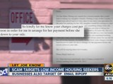 Scam targets low income housing seekers