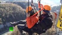 Sochi Vertigo- Extreme flight over 500m ravine on world's highest swing