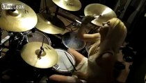 Incredible drum solo by amazing & beautiful Amanda Tieman-Pearl Girl