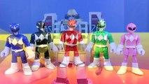 Mighty Morphin Power Rangers Legacy White Tigerzord Saves Imaginext Power Rangers From Rita Repulsa