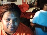 Hilarious big woman playing the scary maze game and her reaction is priceless