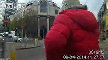 Newly released footage of pedestrian near-misses with Dublin trams