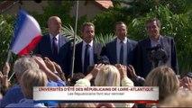 La Baule : Juppé, Fillon et Sarkozy réunis pour une courte photo de famille