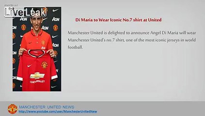 manchester united news manchester united transfers news di maria wear no 7 at manchester united