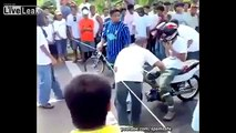 DRAG racing on DRUGS! Motorcycle Racing Accident Caught on CAM