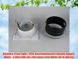Moisture-Proof Light / IP65 Nassraumleuchte Outside Square-White - 3 Watt COB LED 280 Lumen-Cool