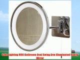 Oaks Lighting M90 Bathroom Oval Swing Arm Illuminated Vanity Mirror