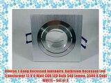 Oberon 1-Gang Recessed luminaire Bathroom Recessed Led-Transformer 12 V 6 Watt COB LED Bulb