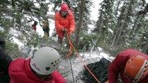 Ski Jumping Crashes # Ski Patrol   Rope Rescue Training   Sunshine Village