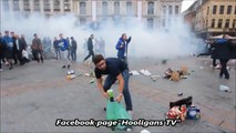 EVERTON FANS HIT BACK AT FRENCH POLICE AFTER BEING TEAR GASSED