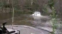 Land Cruiser Crossing Water