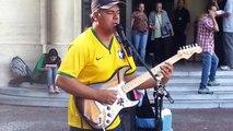 Sultans of Swing By Brazilian Street Performer.