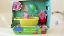 Peppa pig Play doh   Kinder surprise eggs Peppa Pig Muddy Puddles Bathtime